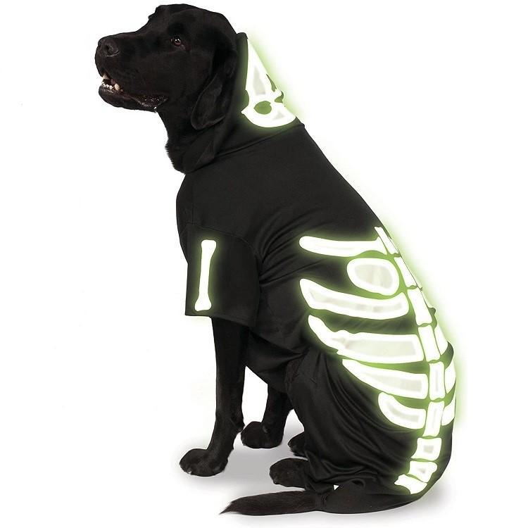 Rubies Big Dog Glow In The Dark Skeleton Dog Costume