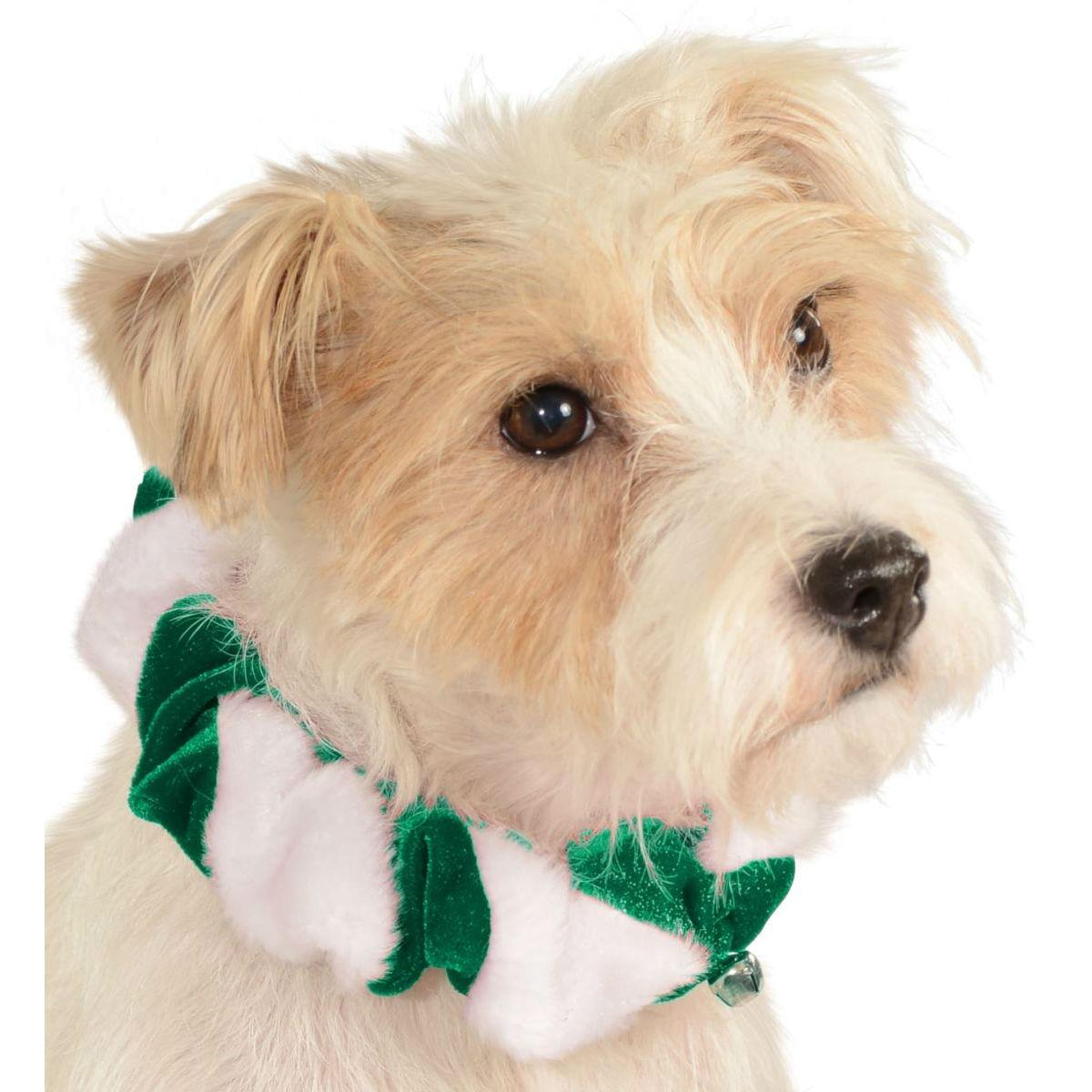 Rubies Candy Cane Dog and Cat Scrunchie - Green