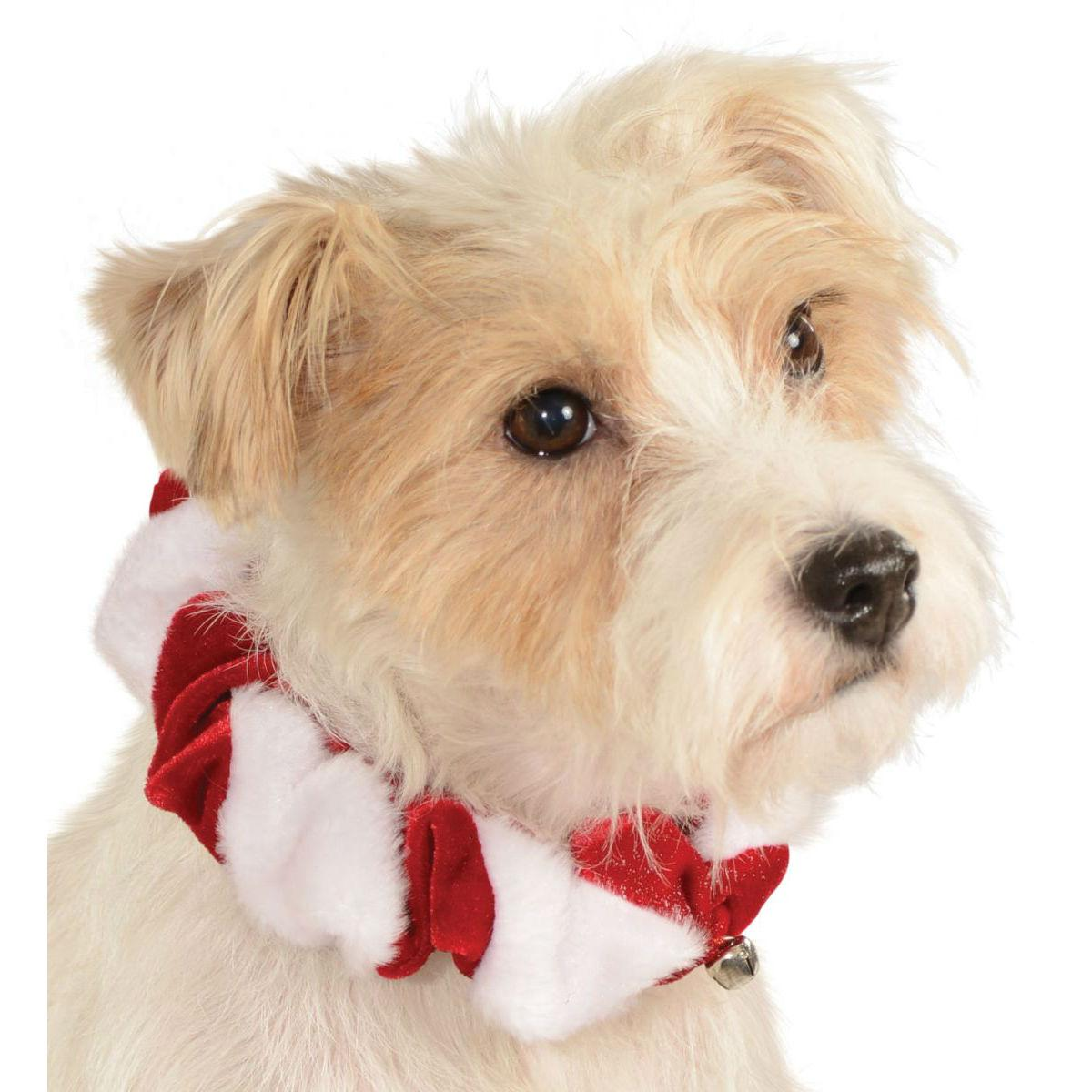 Rubies Candy Cane Dog and Cat Scrunchie - Red
