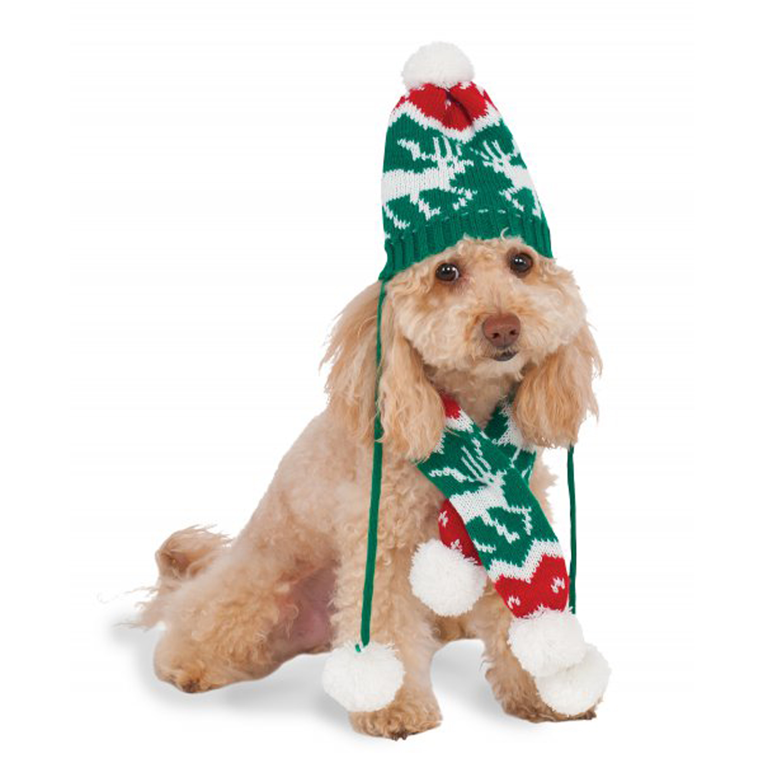 aa95f3479e5 Rubies Holiday Knit Dog Hat and Scarf Set