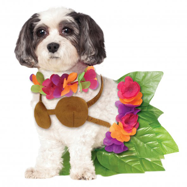 rubies hula girl halloween dog costume