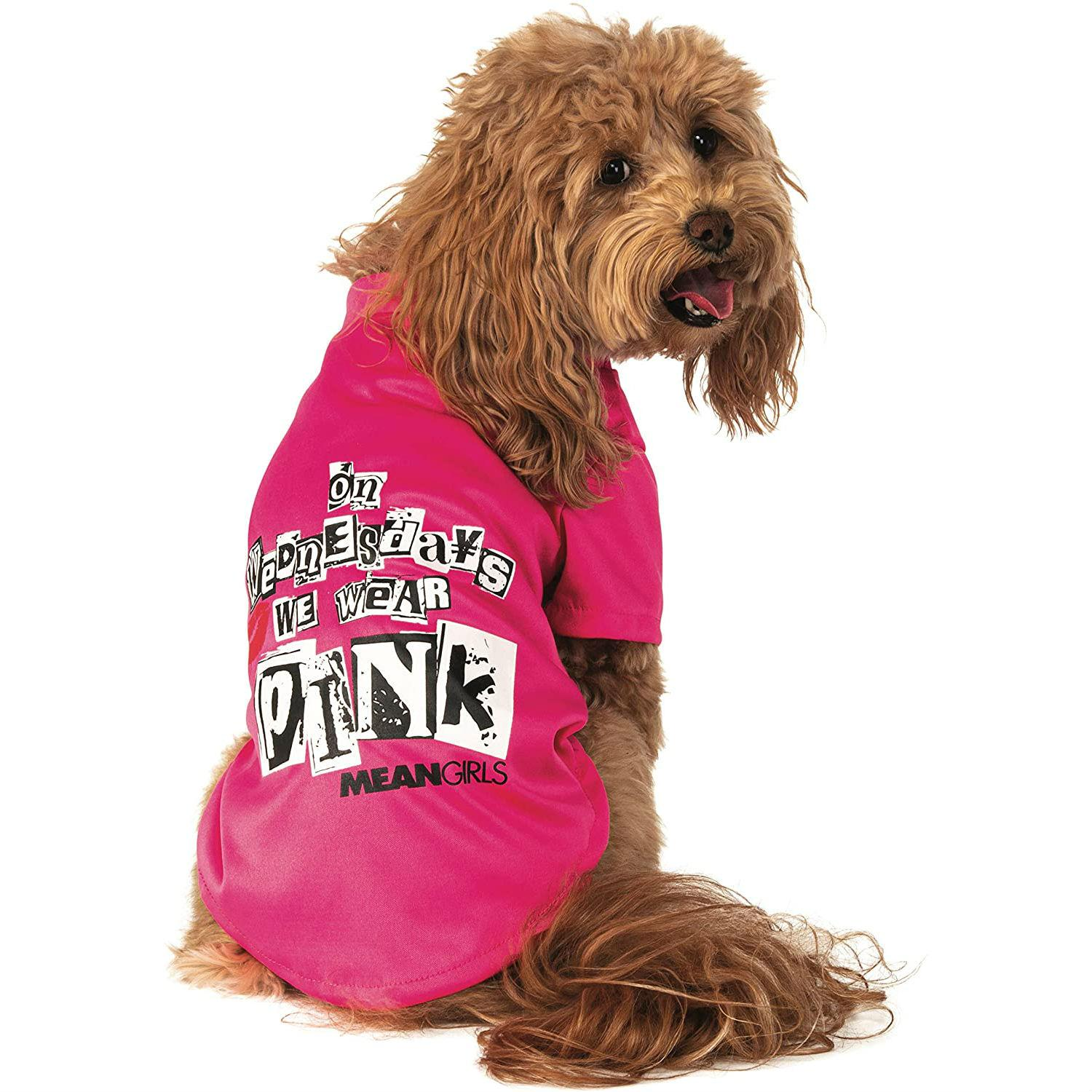 Rubie's Mean Girls On Wednesday We Wear Pink Dog T-Shirt Costume
