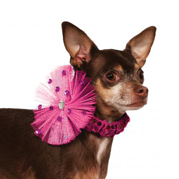 Rubie's Pink Sequin Dog Necklace