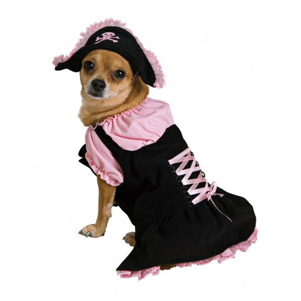 Rubie's Pirate Girl Halloween Dog Costume - Pink