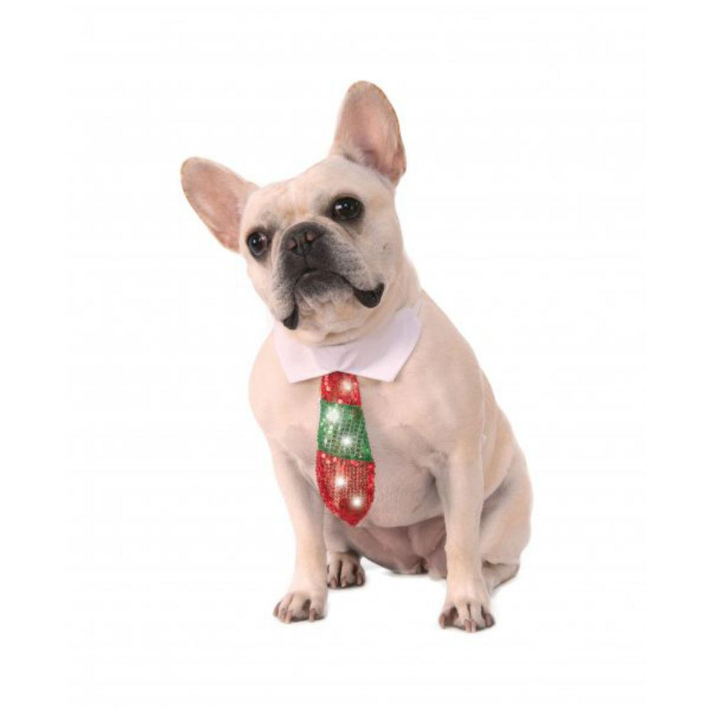 Rubies Reversible Holiday Light Up Dog Necktie