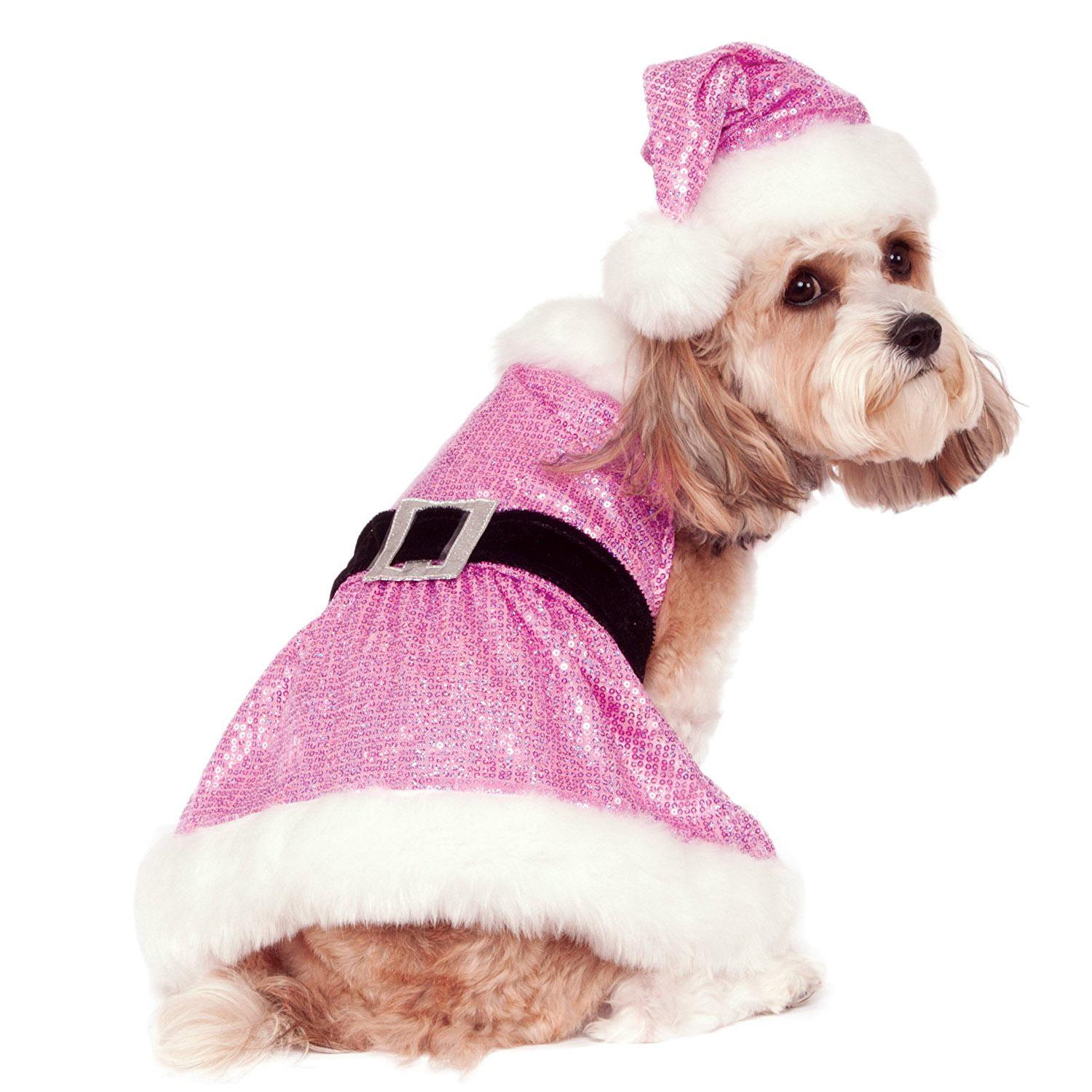 Rubie's Sequin Mrs. Claus Dog Dress - Pink