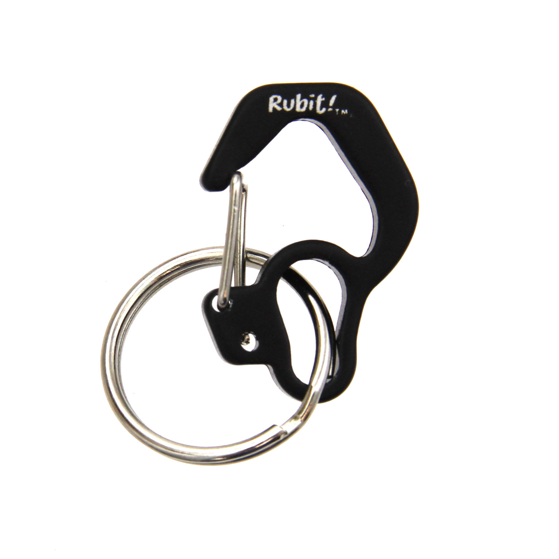 Rubit Dog Tag Clip - Black Curve