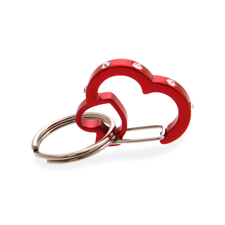 Rubit Dog Tag Clip - Red Rhinestone Heart