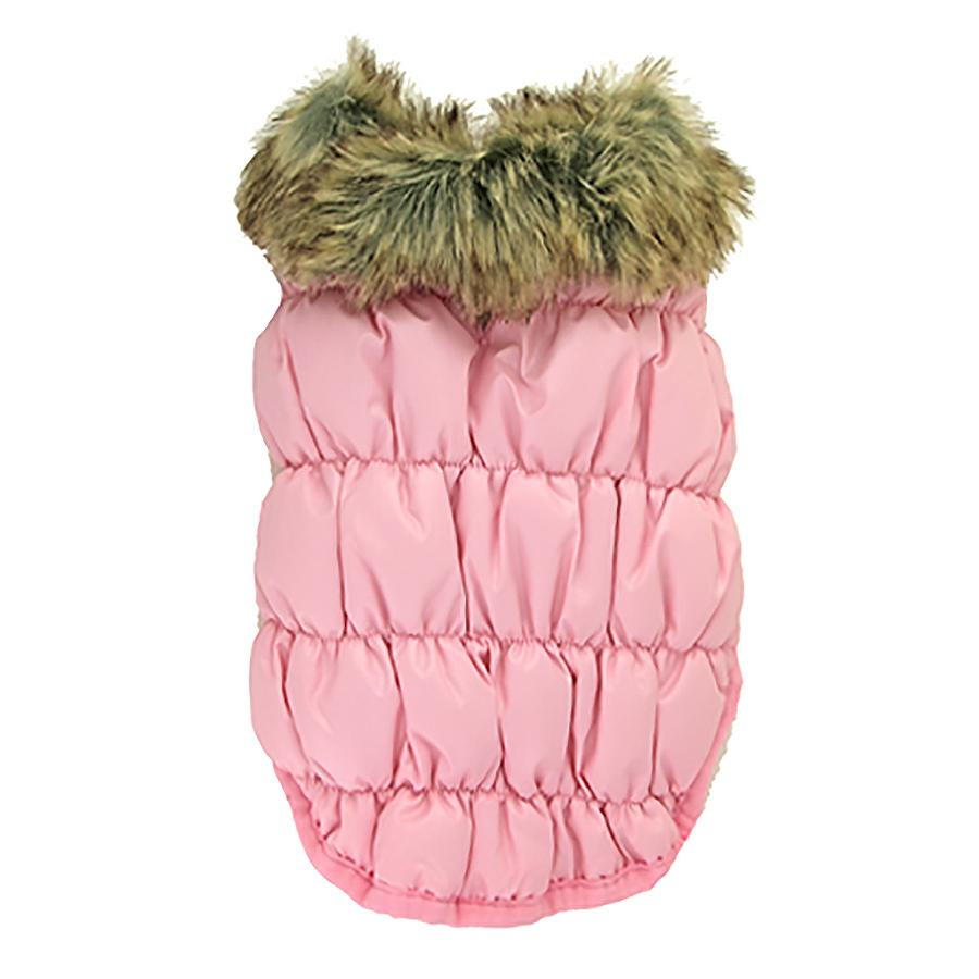 Ruched Bubble Dog Jacket by Dogo - Pink