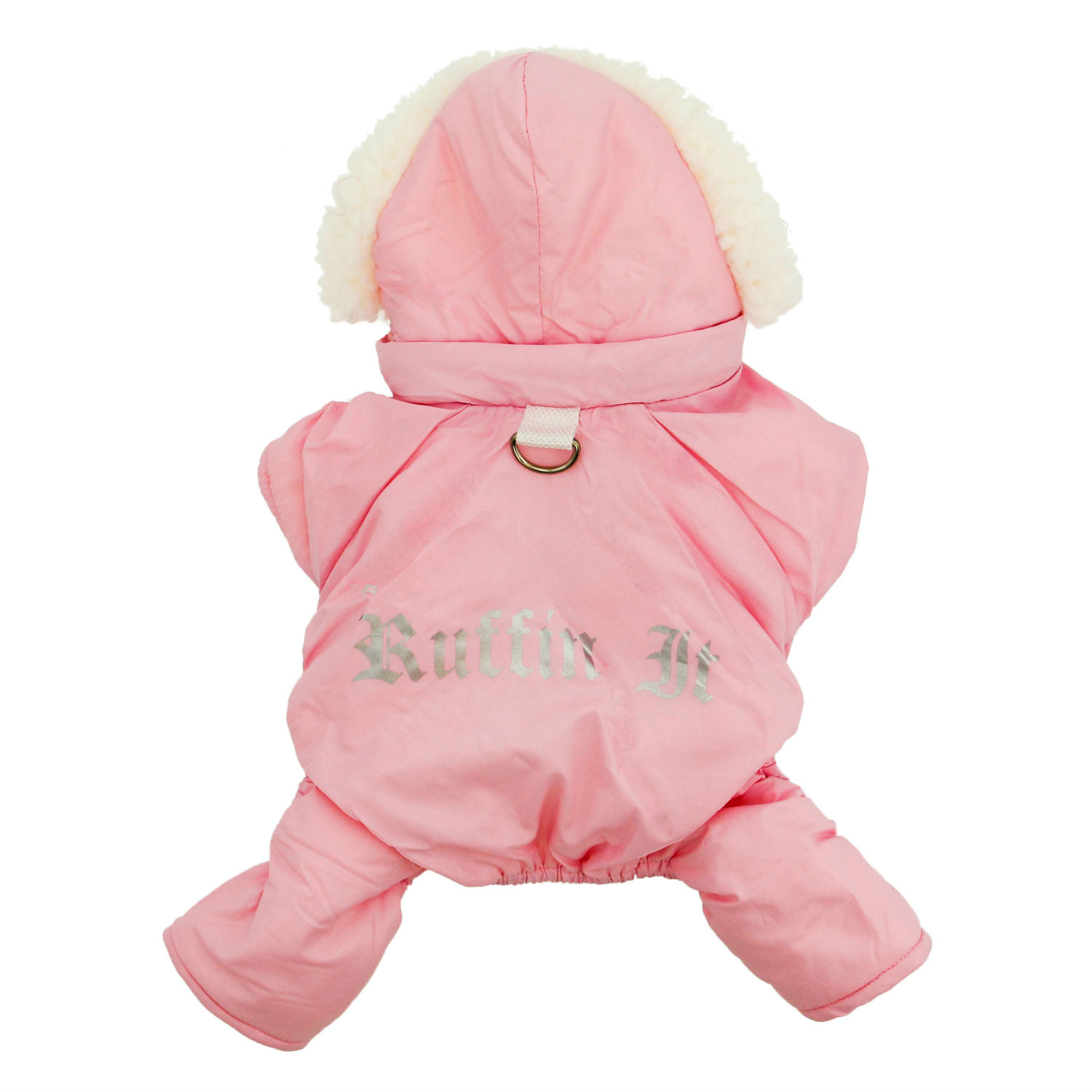 Ruffin It Snowsuit by Doggie Design - Pink