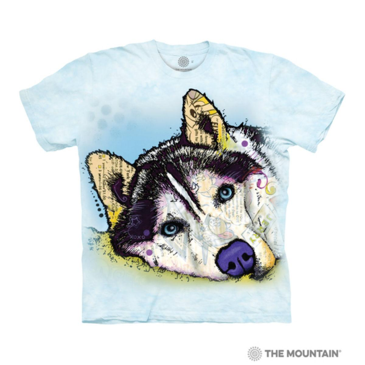 Russo Siberian Husky Human T-Shirt by The Mountain