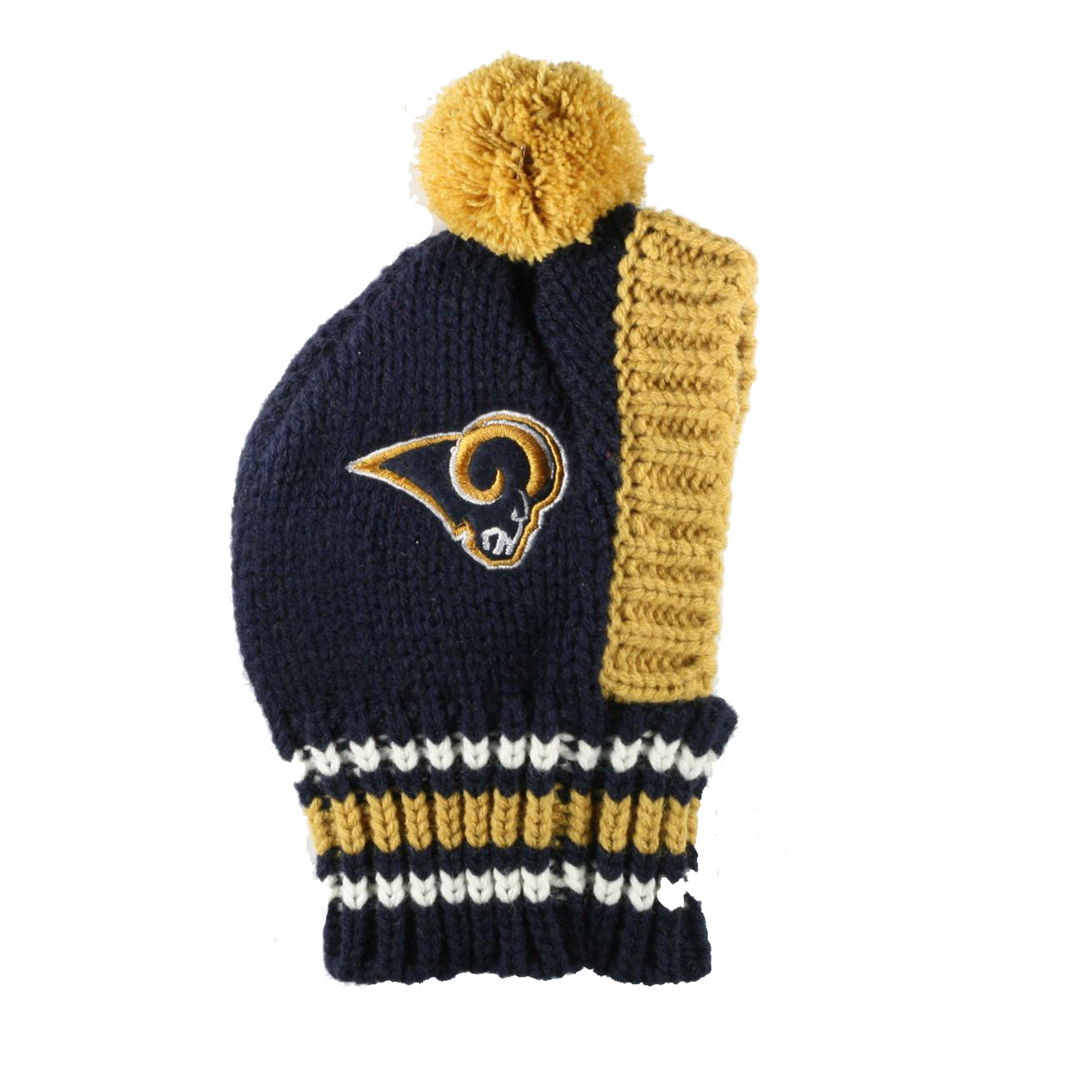 Los Angeles Rams Knit Dog Hat