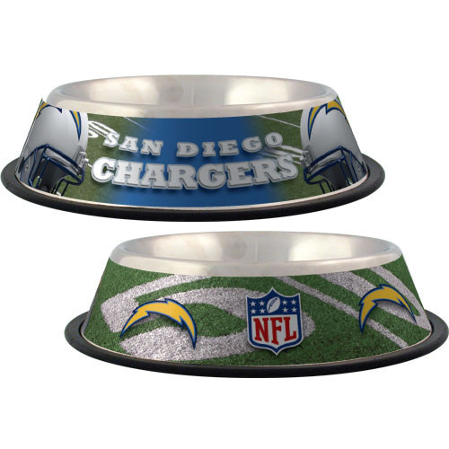 San Diego Chargers Dog Bowl With Same Day Shipping Baxterboo