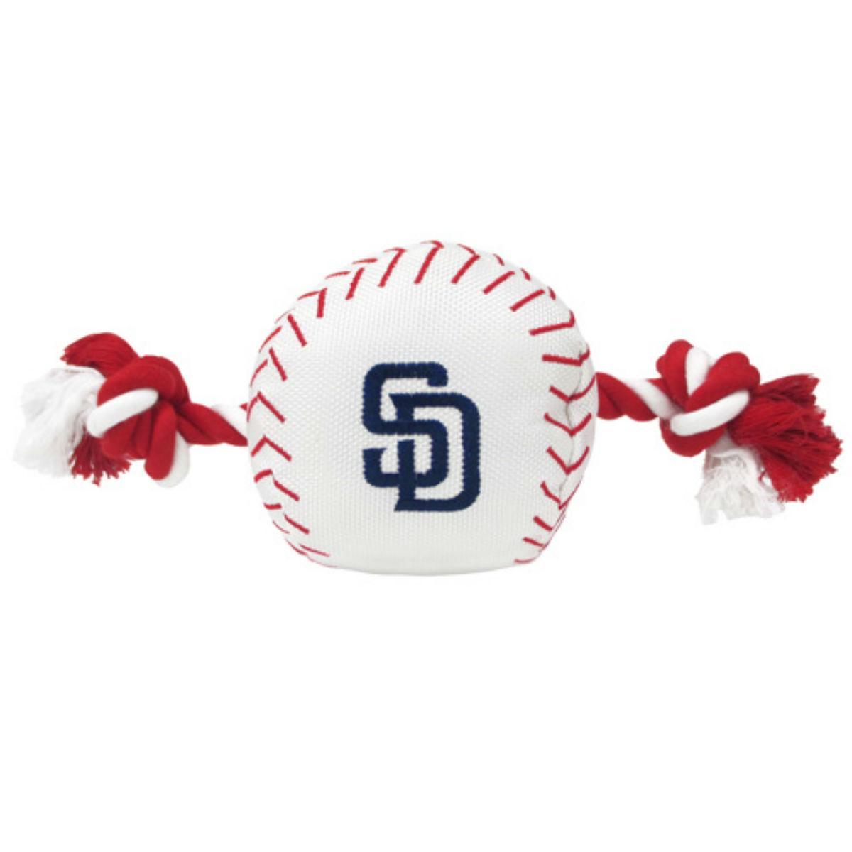 San Diego Padres Nylon Plush Baseball Rope Dog Toy