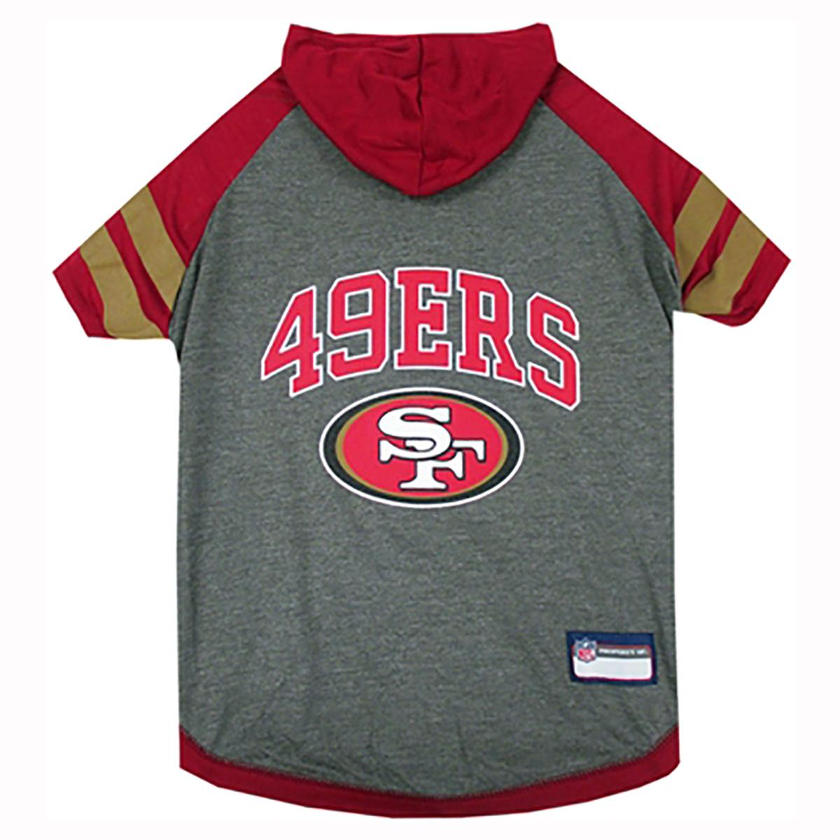 san francisco 49ers hooded dog t shirt with same day