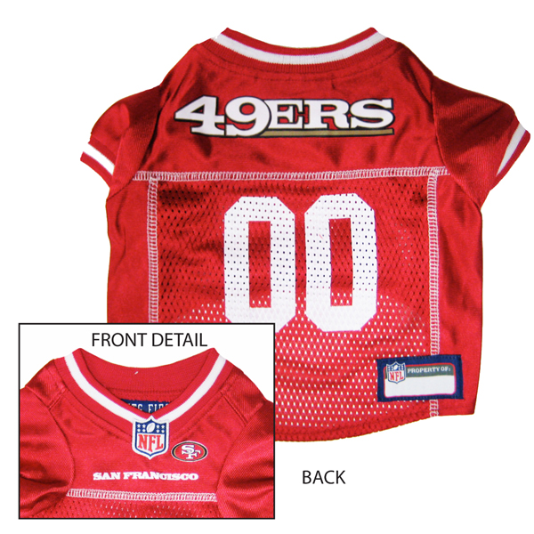 483b6844d San Francisco 49ers Officially Licensed Dog Jersey - Red with White Trim