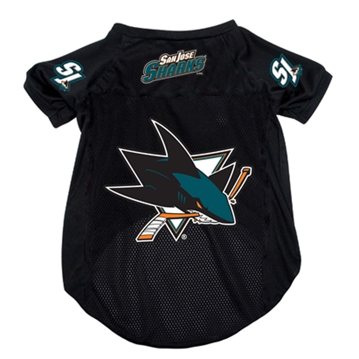 San Jose Sharks Dog Jersey - Black