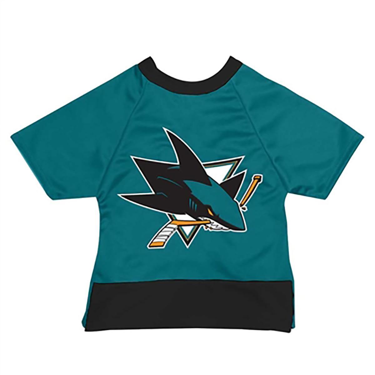 San Jose Sharks Mesh Dog Jersey - Teal with Black Trim
