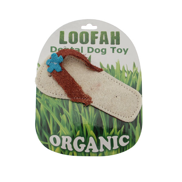 Sandal Loofah Dental Dog Toy by Hip Doggie