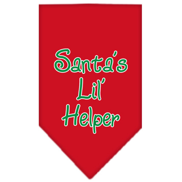Santa's Little Helper Dog Bandana - Red