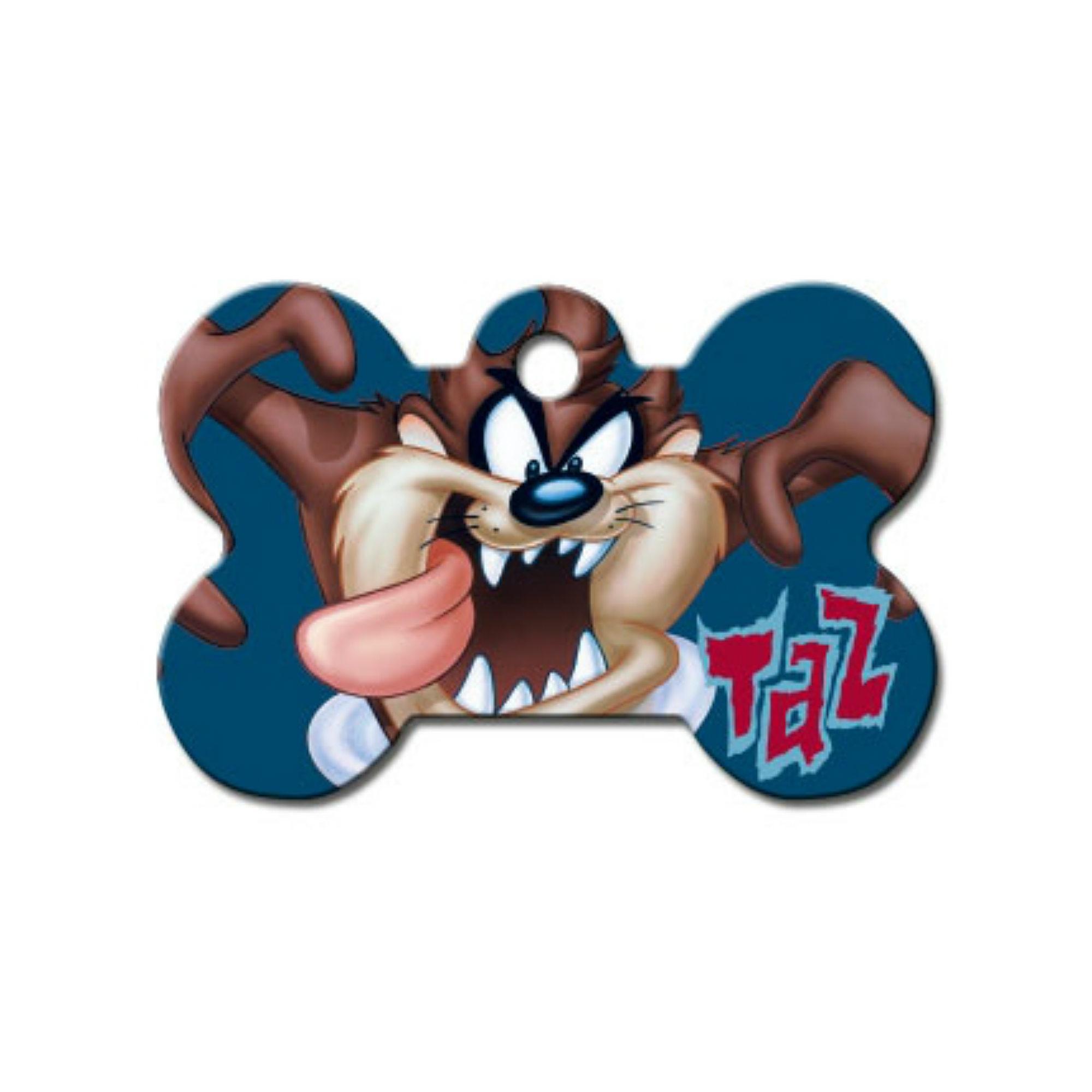 Taz Bone Large Engravable Pet I.D. Tag