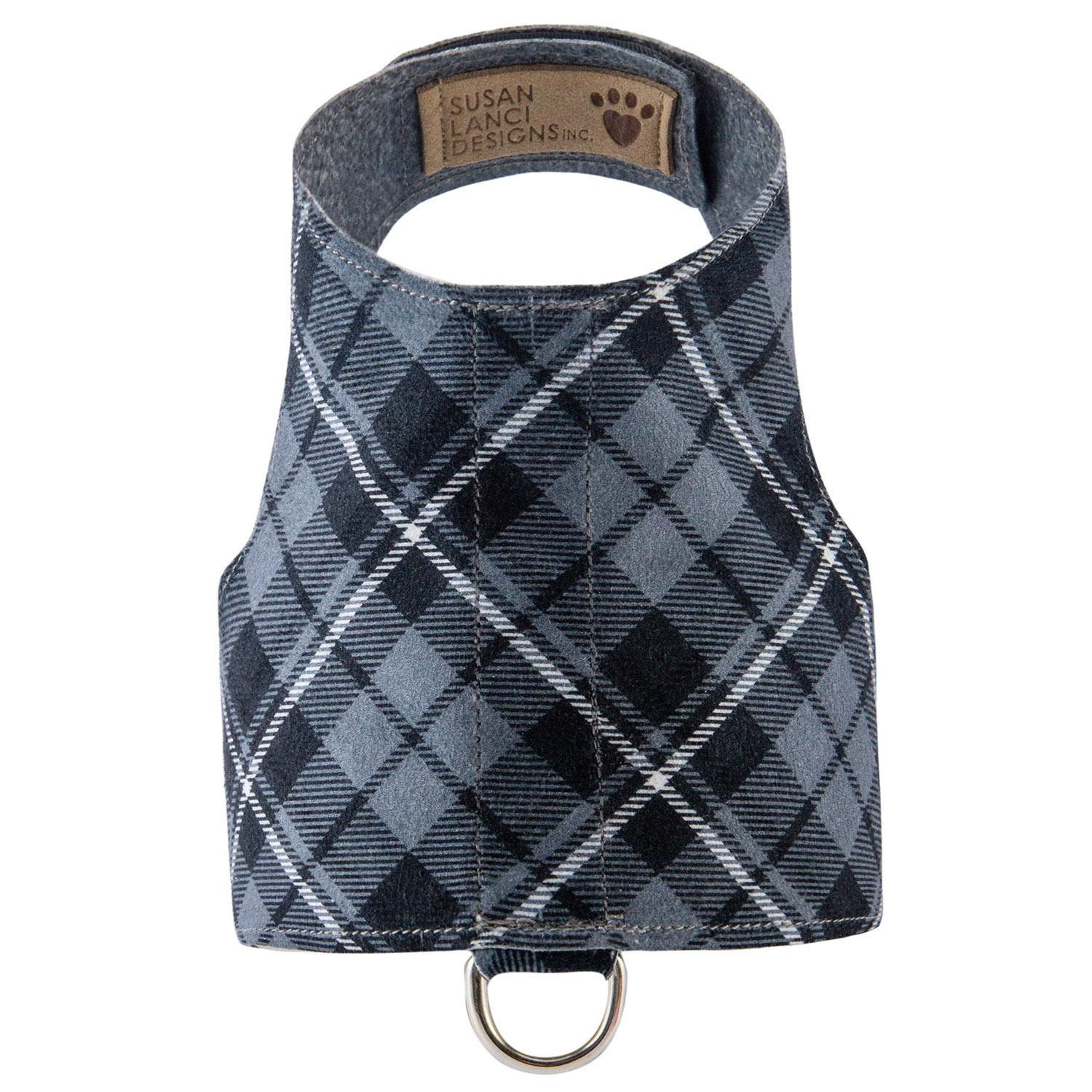 Scotty Bailey Dog Harness by Susan Lanci - Charcoal Plaid