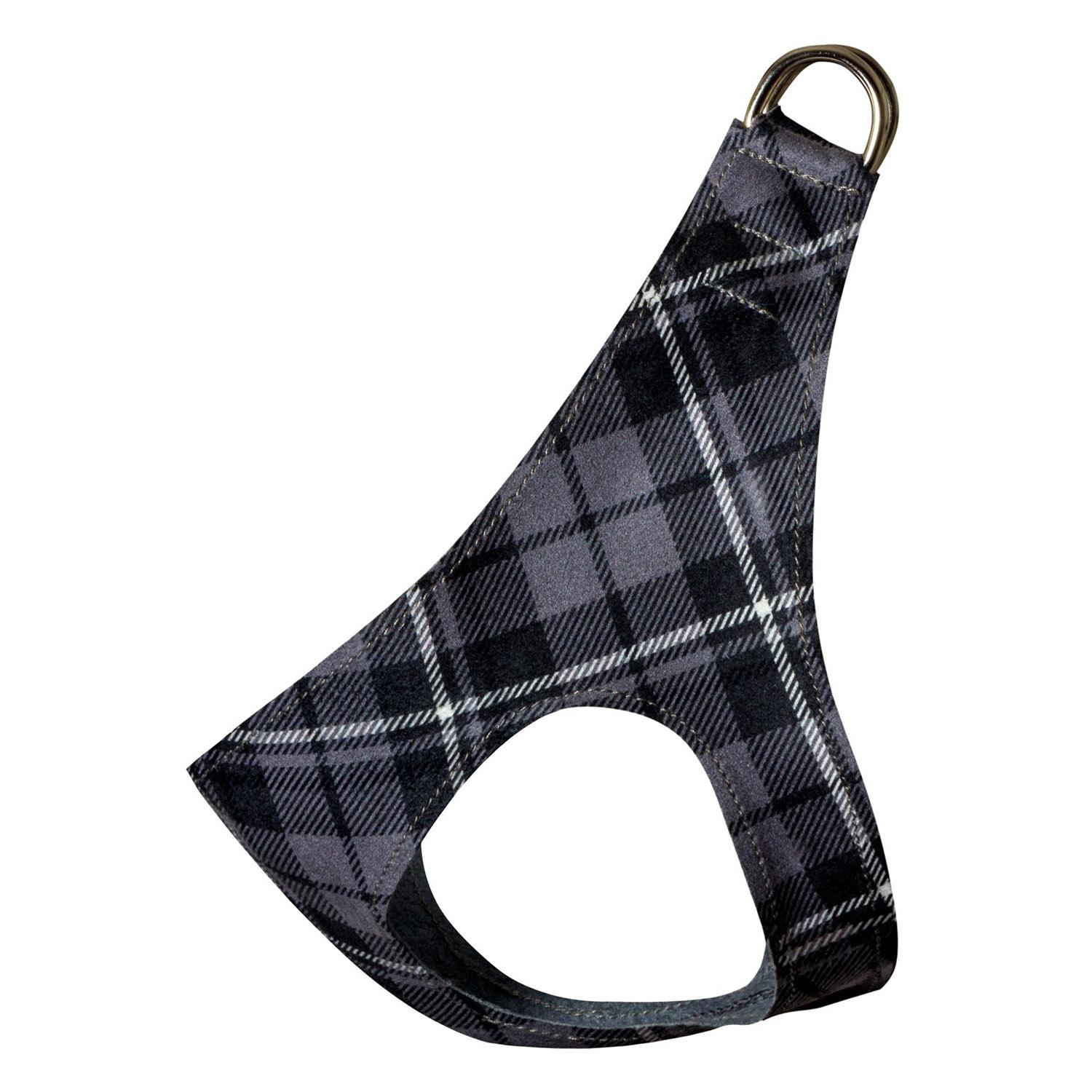 Scotty Step-In Dog Harness by Susan Lanci - Charcoal Plaid
