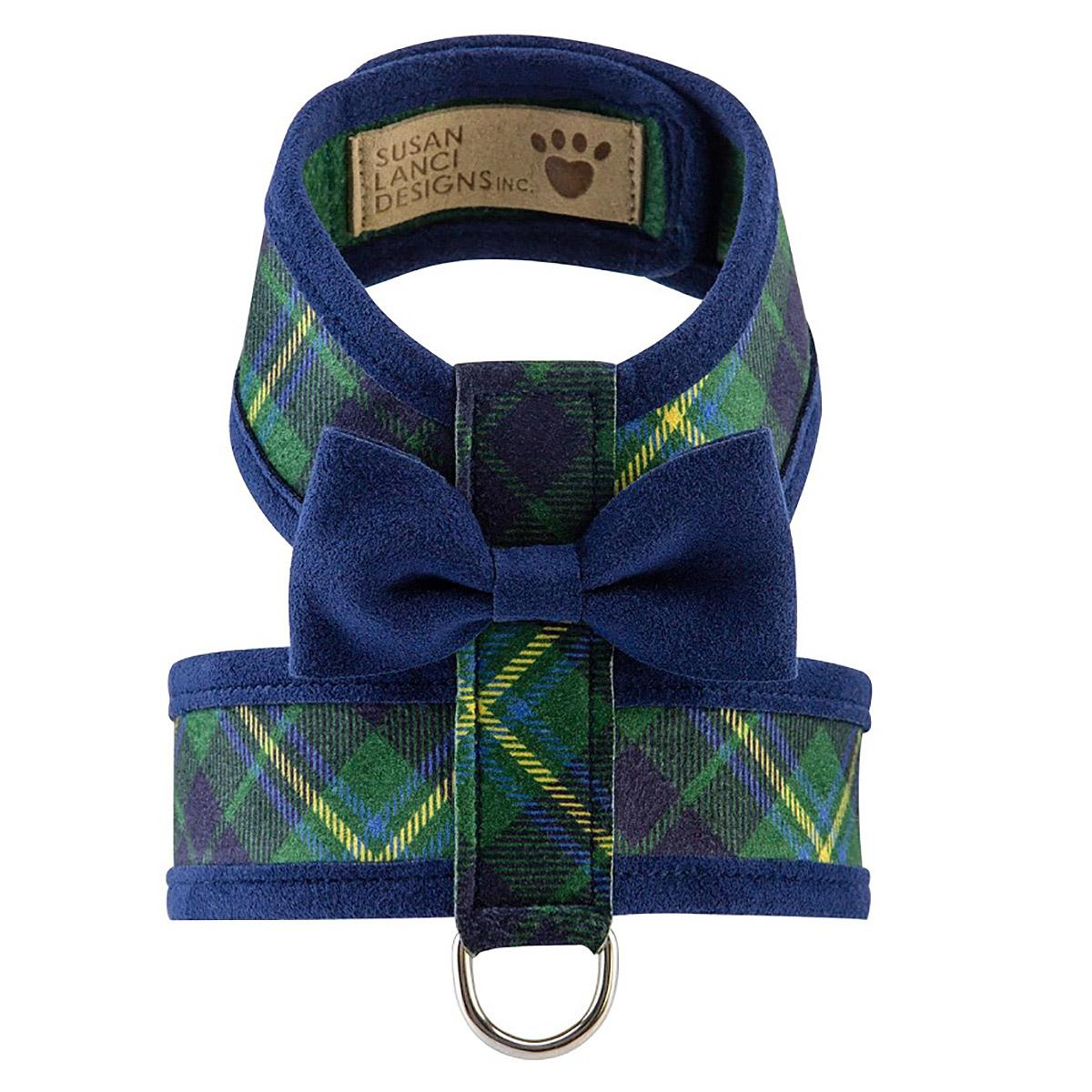Scotty Tinkie Two-Tone Dog Harness by Susan Lanci - Forest Plaid
