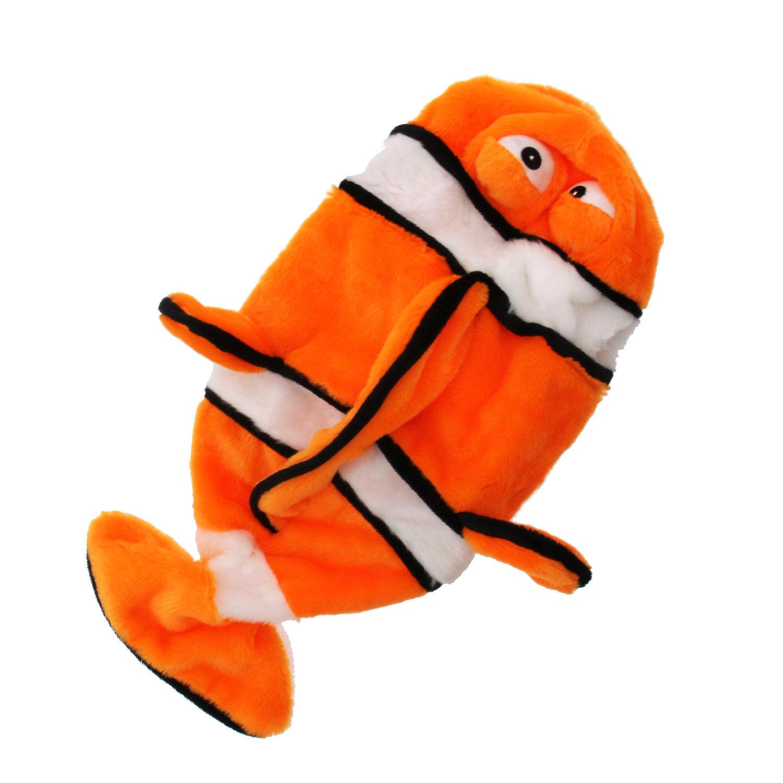 Sea Life Plush Bottle Dog Toy - Clownfish