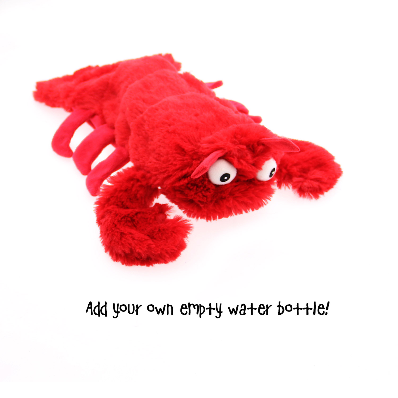 Sea Life Plush Bottle Dog Toy - Lobster
