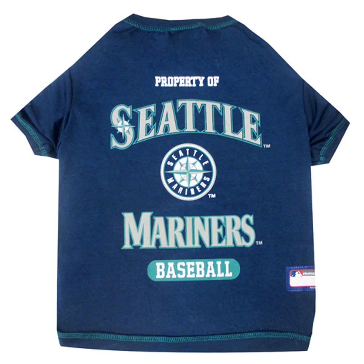 super popular 97bc1 e1b01 Seattle Mariners Dog T-Shirt - Navy Blue