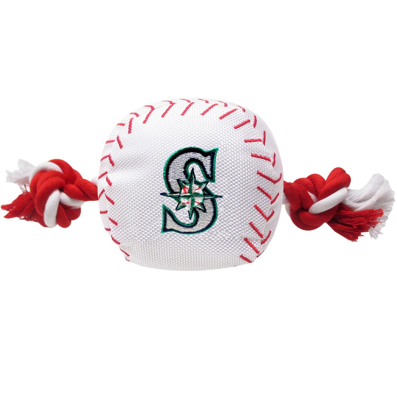 Seattle Mariners Nylon Plush Baseball Rope Dog Toy
