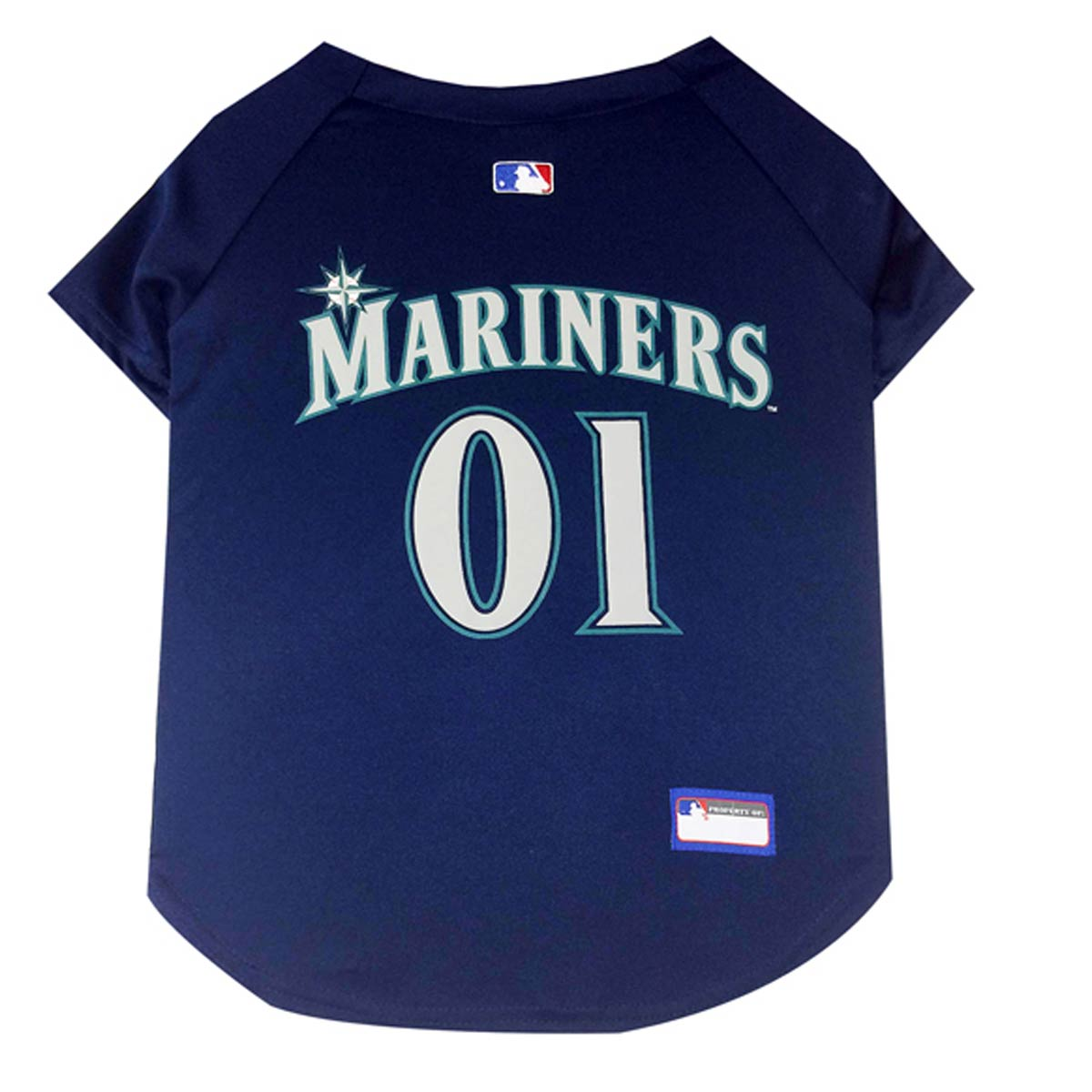 Seattle Mariners Officially Licensed Dog Jersey - Navy Blue