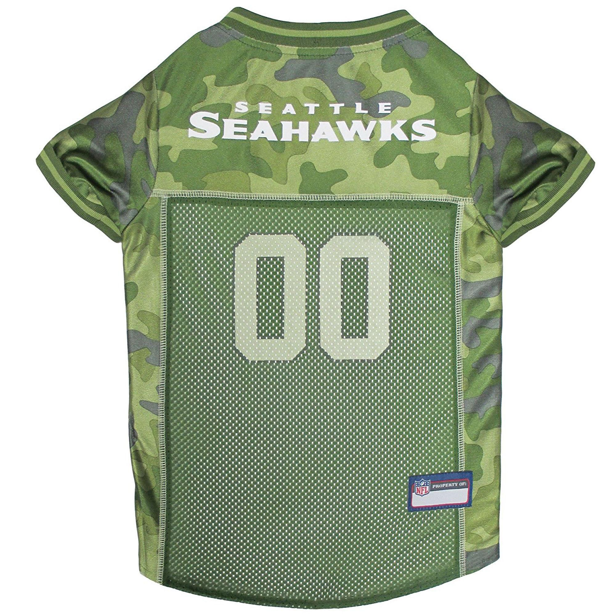 Seattle Seahawks Dog Jersey - Camo