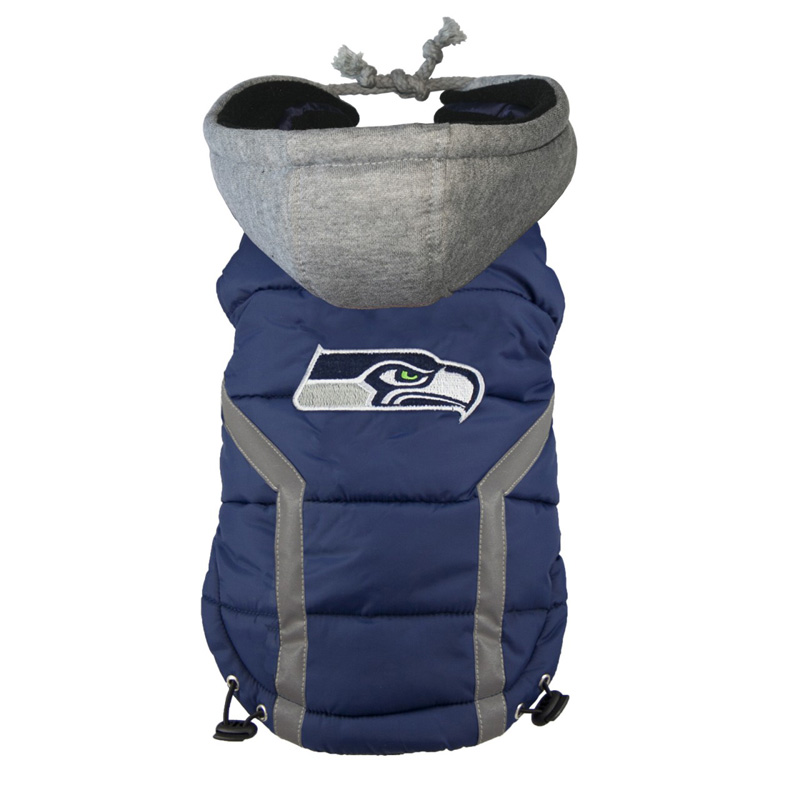 Seattle Seahawks Dog Puffer Vest  b7dad71a8