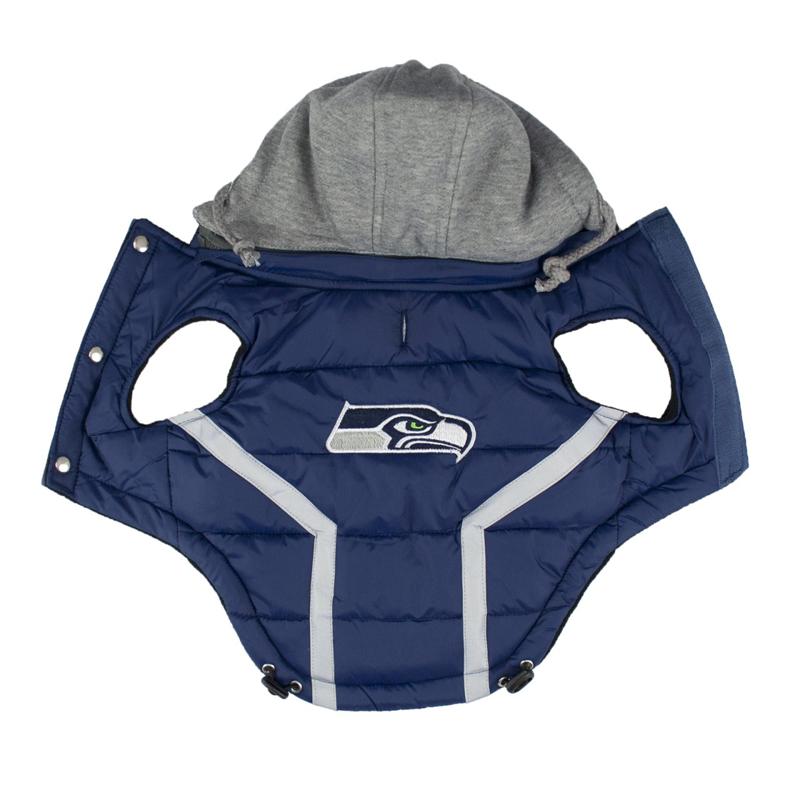 seattle seahawks dog puffer vest 2 seattle seahawks dog puffer vest baxterboo