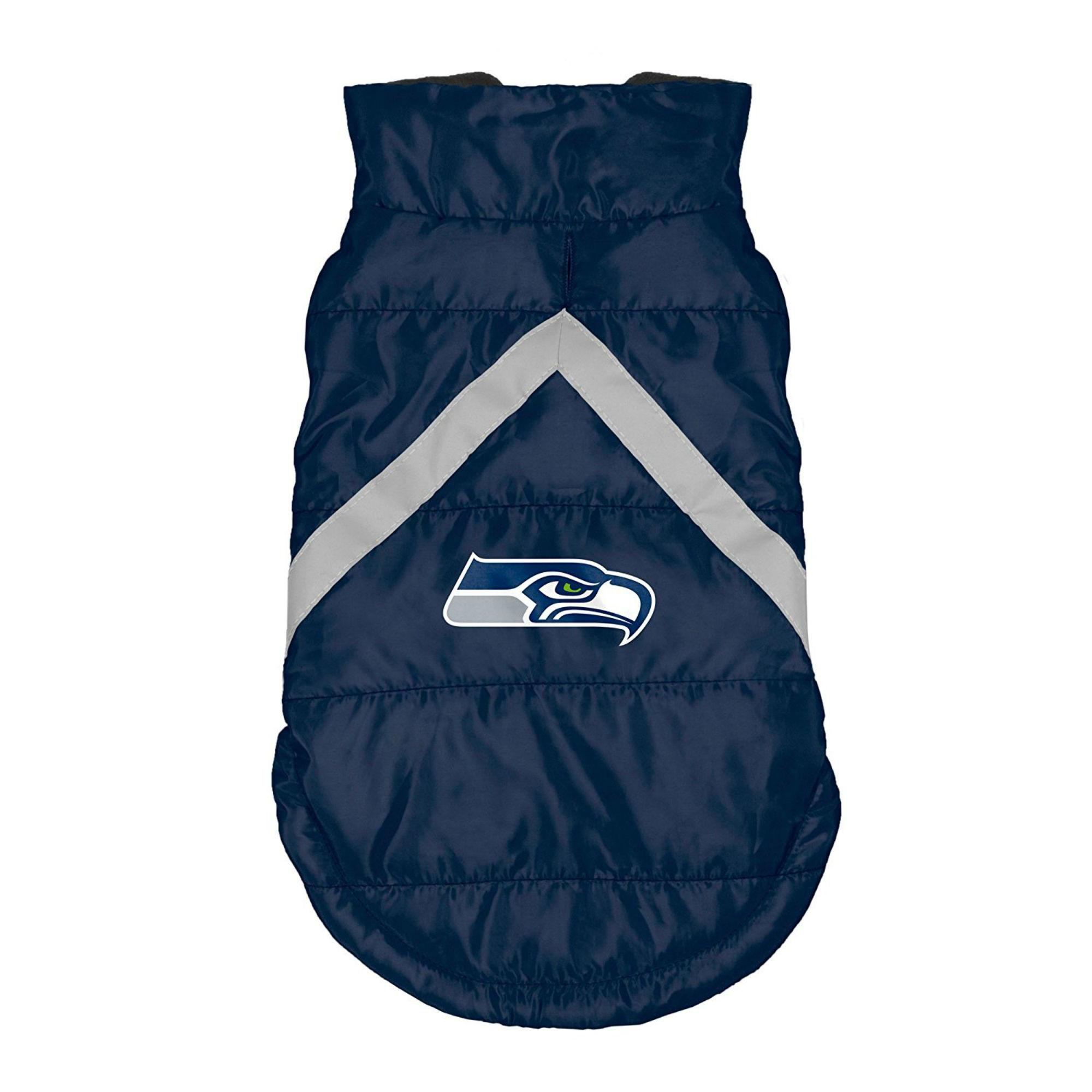 Seattle Seahawks Sleeveless Dog Puffer Vest