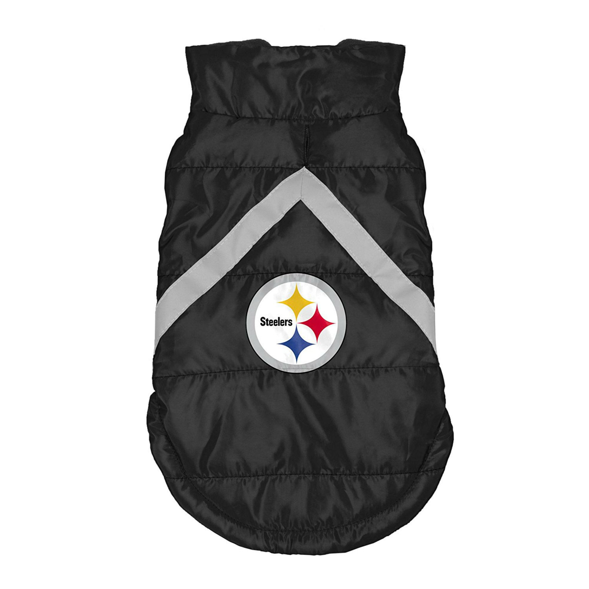 Pittsburgh Steelers Sleeveless Dog Puffer Vest