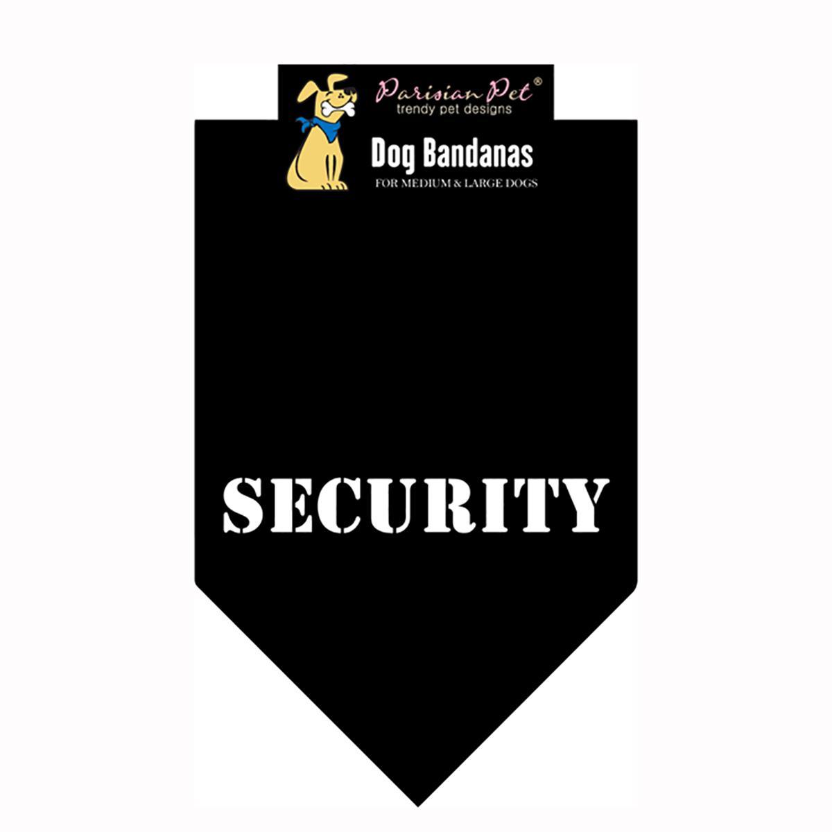 Security Dog Bandana - Black