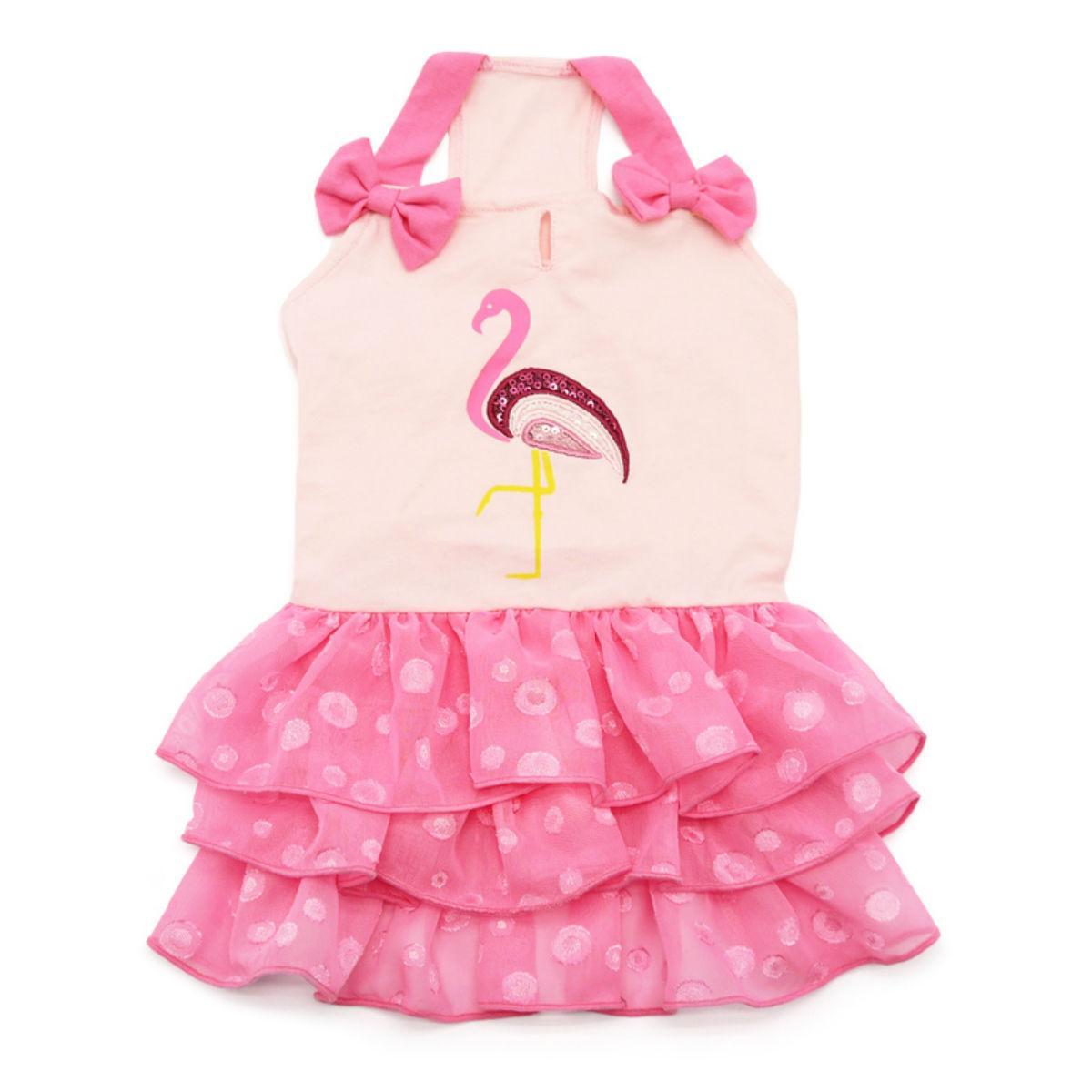 Sequin Flamingo Dog Dress by Dogo