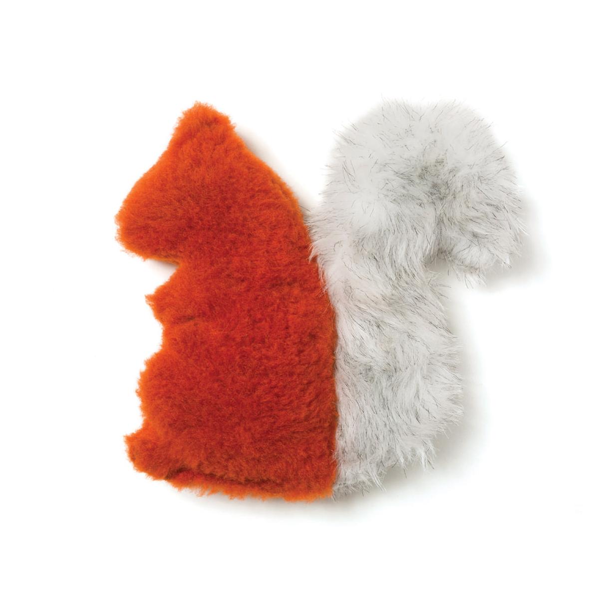 Sequoia Squirrel Dog Toy by West Paw - Pumpkin