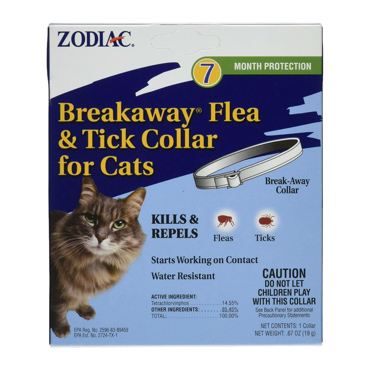 Zodiac Breakaway Flea & Tick Cat Collar - 7 Month Protection