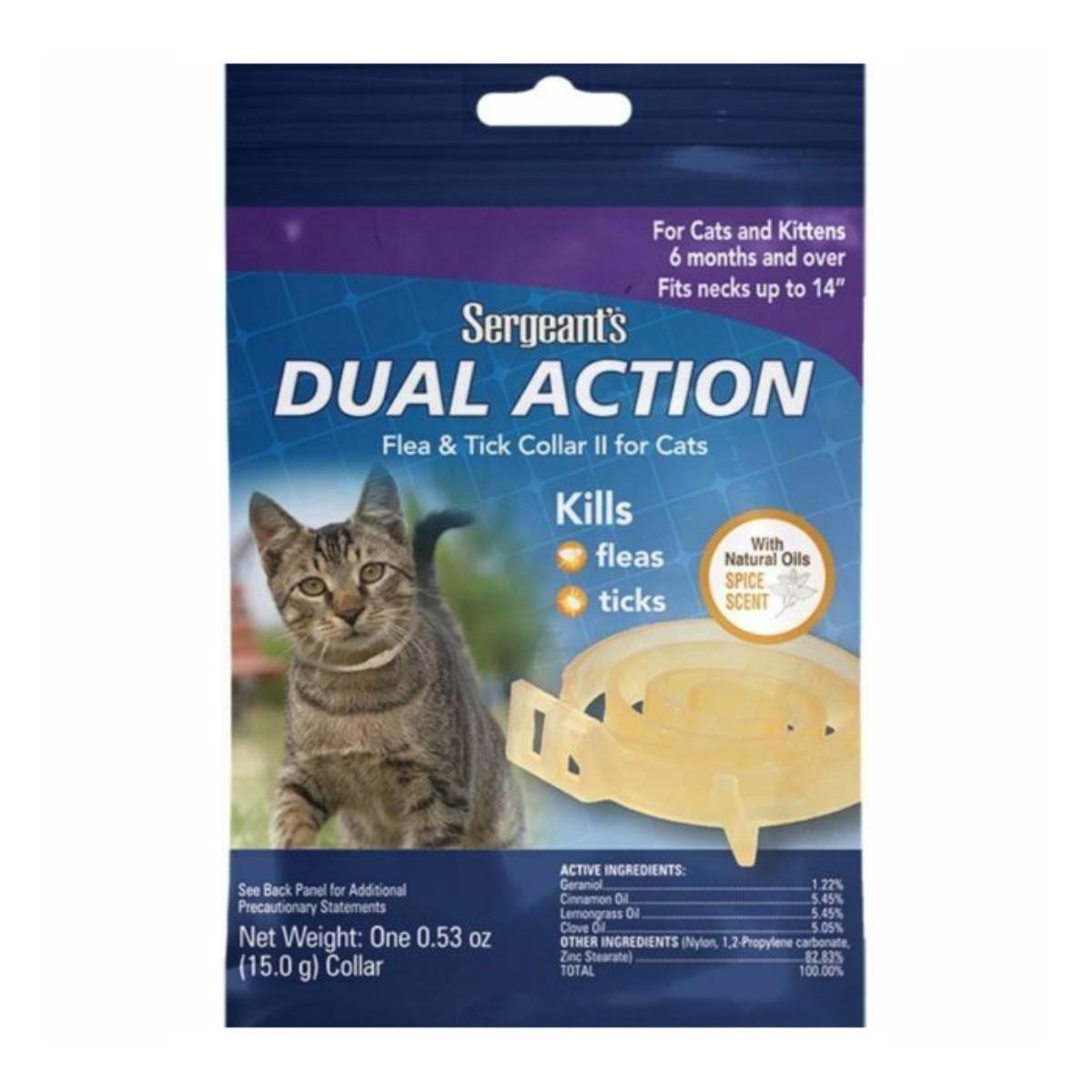 Sergeant's Dual Action Flea & Tick Collar II for Cats