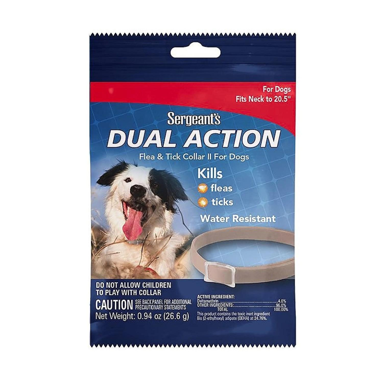 Sergeant's Dual Action Flea & Tick Collar II for Dogs