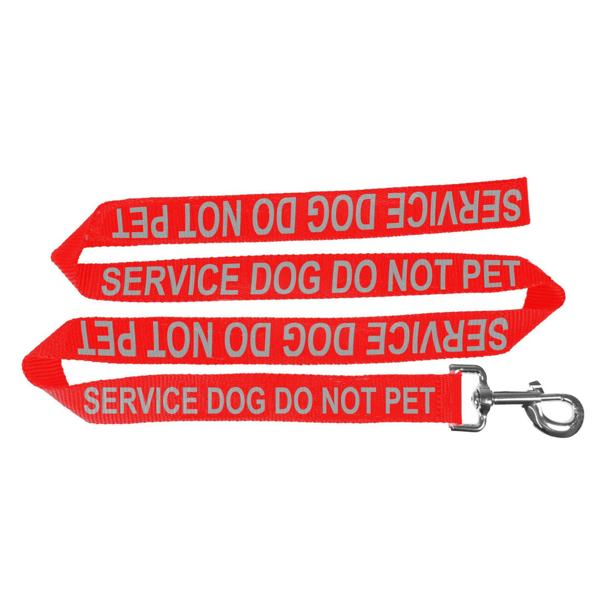 Service Dog Do Not Pet Dog Leash - Red