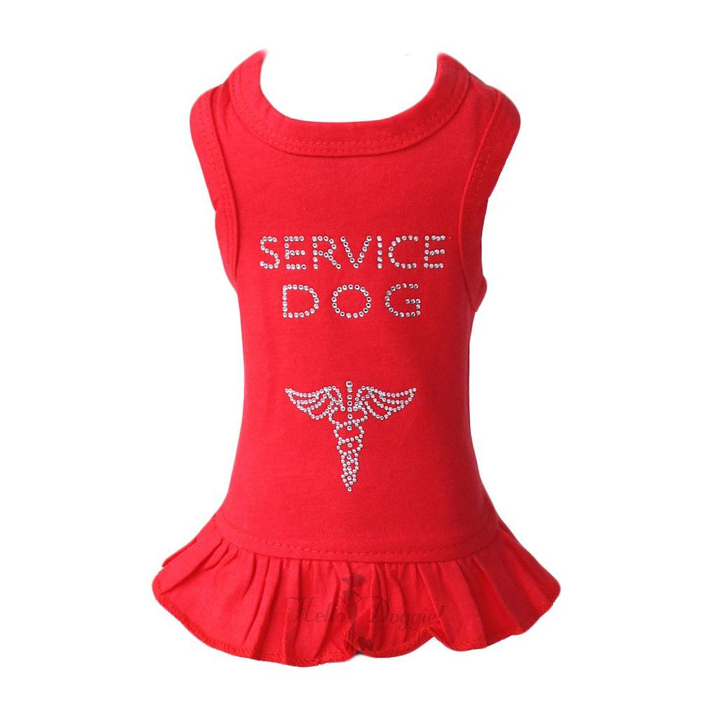 Service Dog Dress by Hello Doggie - Red