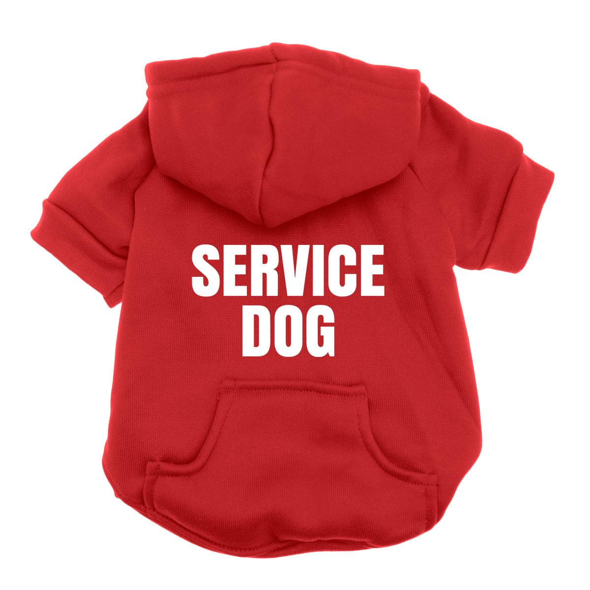Service Dog Hoodie - Red