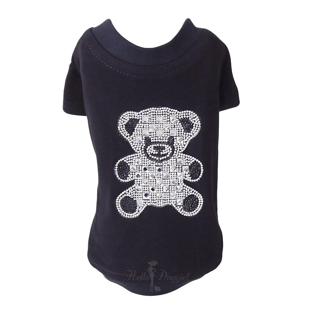 Teddy Bear Dog T-Shirt by Hello Doggie - Black