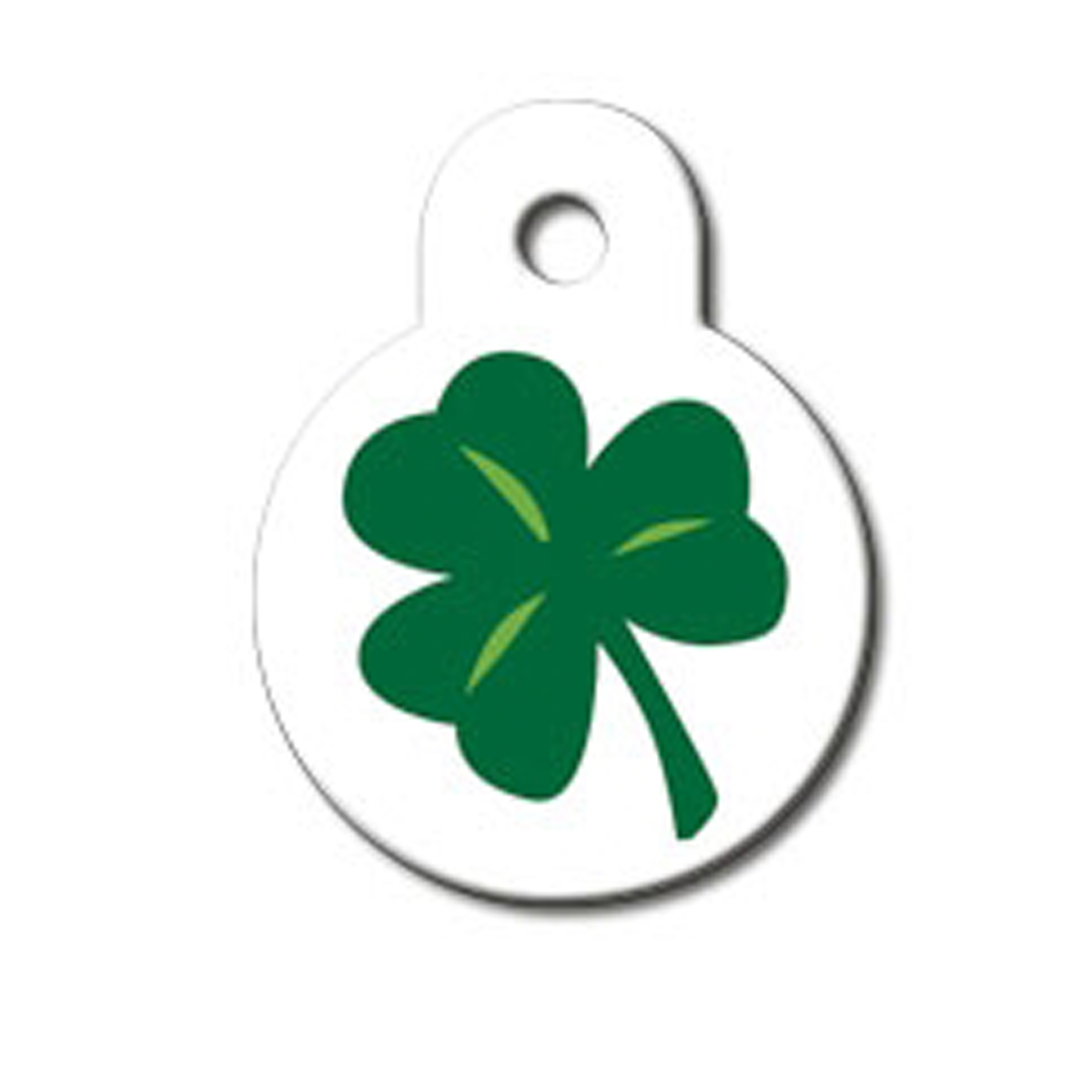 Shamrock Engravable Pet I.D. Tag - Small Circle