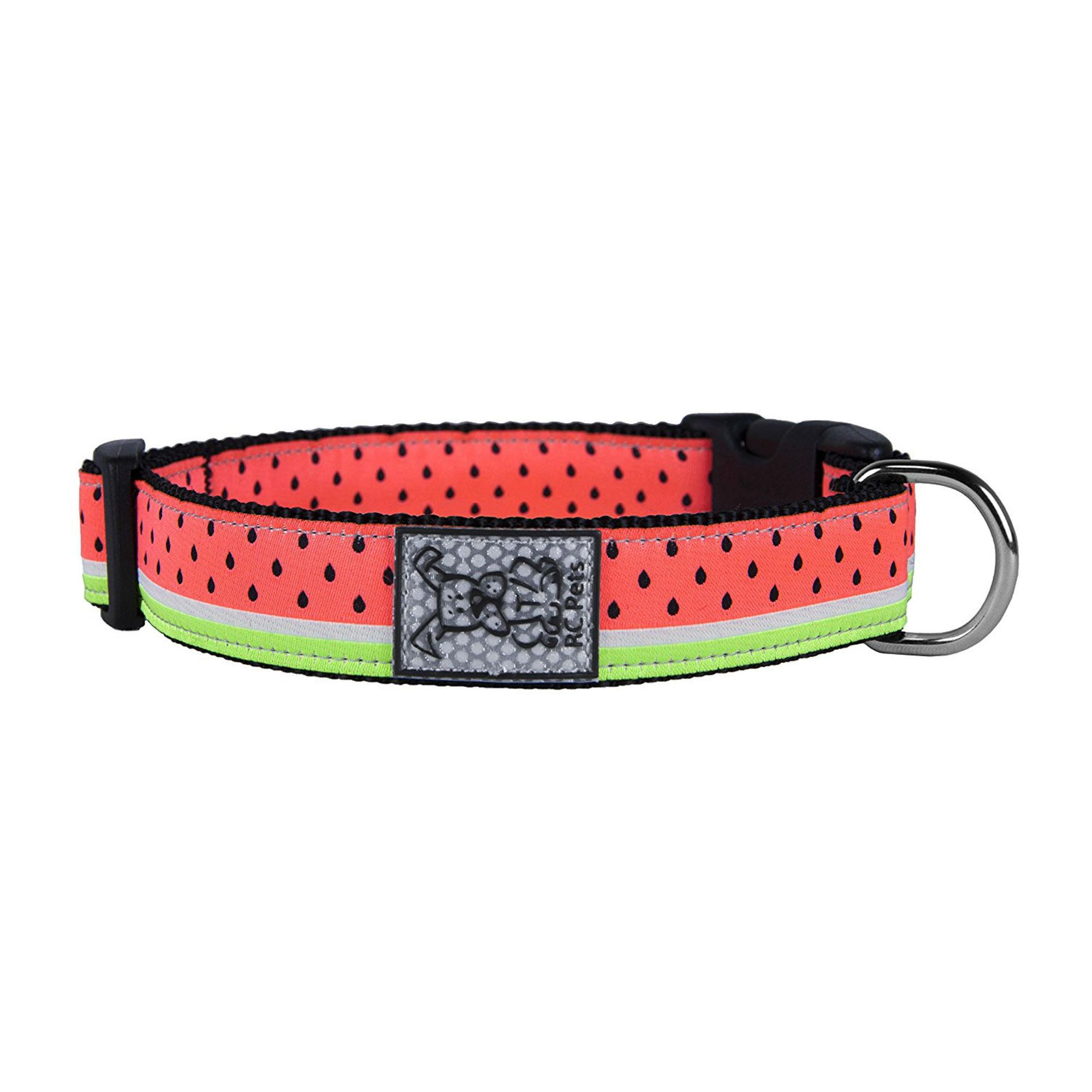 Watermelon Adjustable Clip Dog Collar By RC Pet